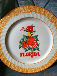 Orange Bird Plate